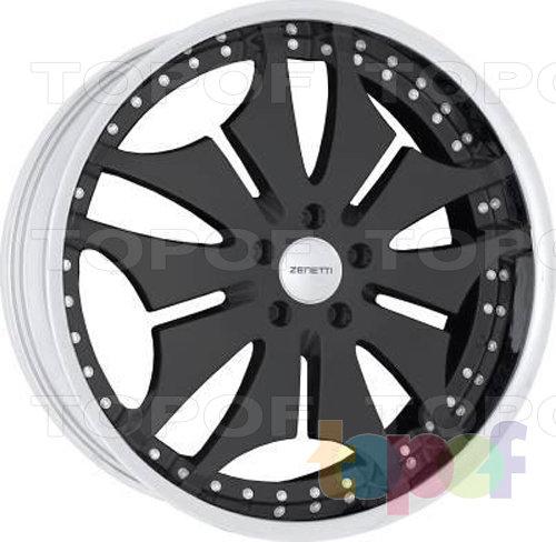 Колесные диски Zenetti Prevail. Черный с полированным ободом