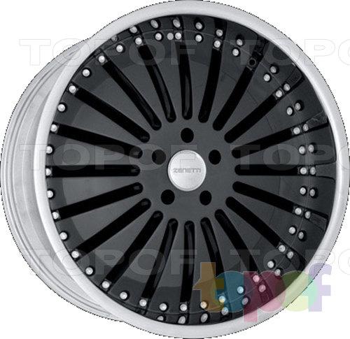Колесные диски Zenetti Spartan. Черный с полированным ободом