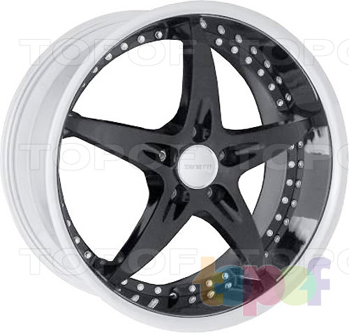 Колесные диски Zenetti Stella. черный с декоративными болтами