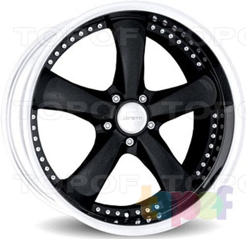 Колесные диски Zenetti ThrowBack. черный с декоративными болтами и полированным ободом
