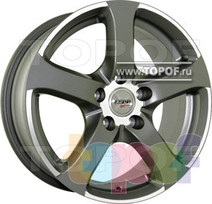 Колесные диски Zepp Royal Road Bars Anthracite. Изображение модели #1
