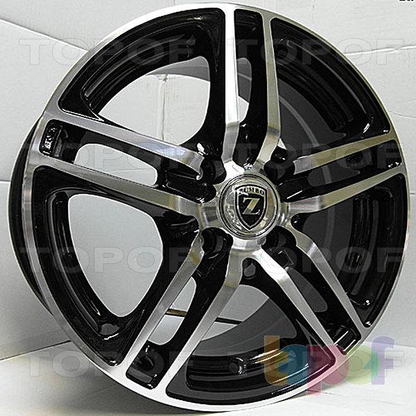 Колесные диски Zumbo 219. Цвет черный с полированной полкой