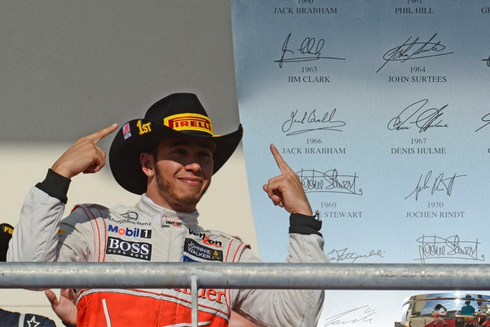 Льюис Хэмильтон - победитель гонки Формулы 1 в Остине