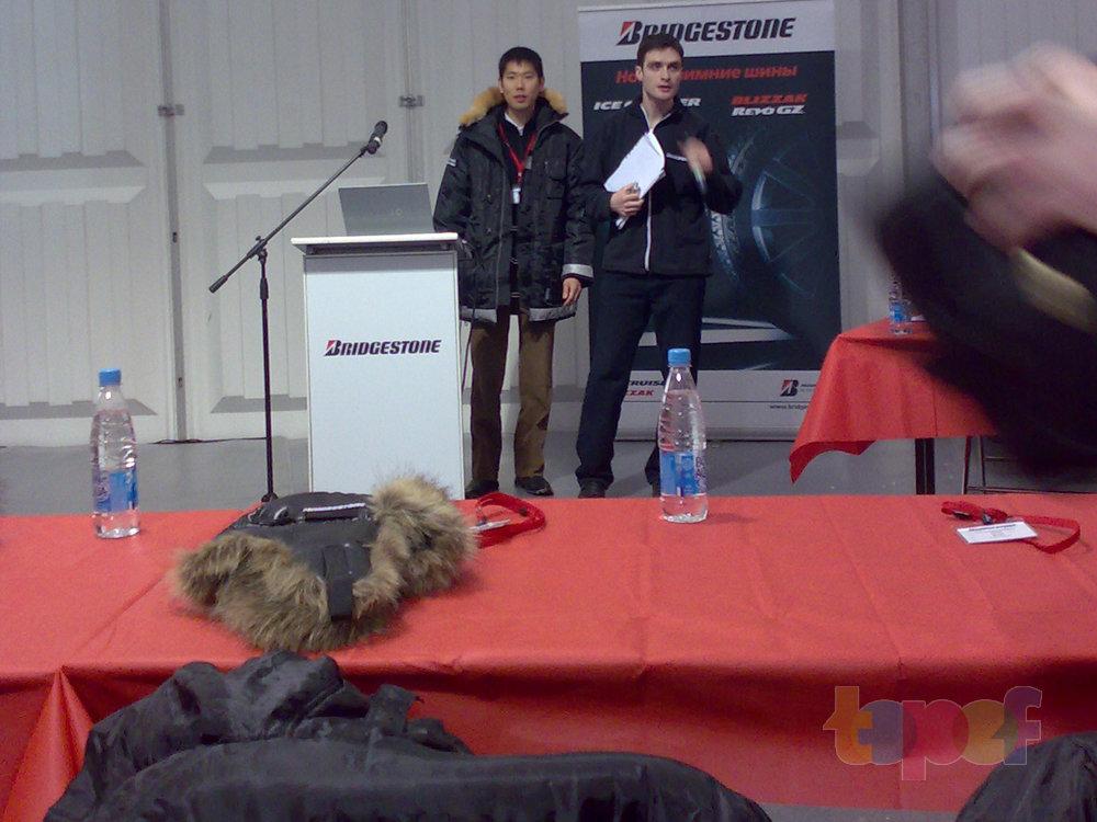 Тест-драйв зимних шин Bridgestone Blizzak Revo GZ. Пресс конференция. Подготовка