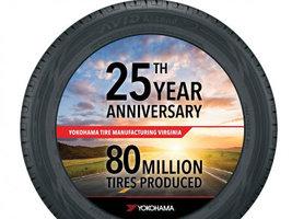 Завод Yokohama выпустил 80-миллионную шину