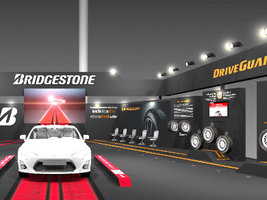 Bridgestone устраивает шинную выставку для поклонников гонки