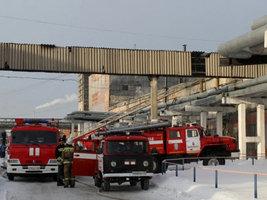 Пожарные потушили возгорание на территории Алтайского шинного комбината