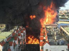 На шинном заводе Federal произошел крупный пожар