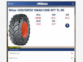 Приложение Mitas поможет определить правильное давление в сельхозшинах