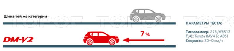 Улучшенное торможение на льду Bridgestone Blizzak DM-V2