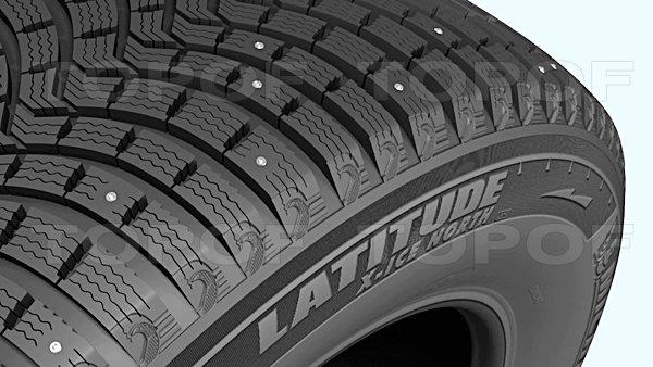 Многочисленные ламели Michelin Latitude X-Ice North 2+