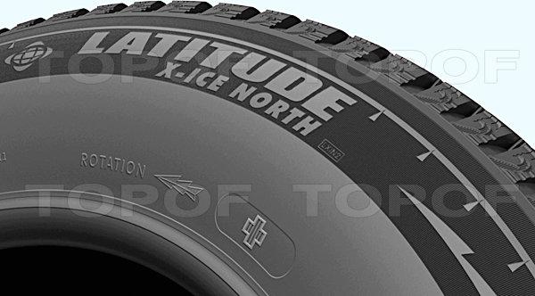 Большое количество независимых блоков Michelin Latitude X-Ice North 2+