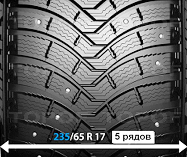 Рисунок протектора Michelin Latitude X-Ice North 2+ с шириной до 235 мм