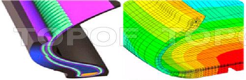 Крепкие нити каркаса и особая конструкция боковины шины Michelin Ironflex