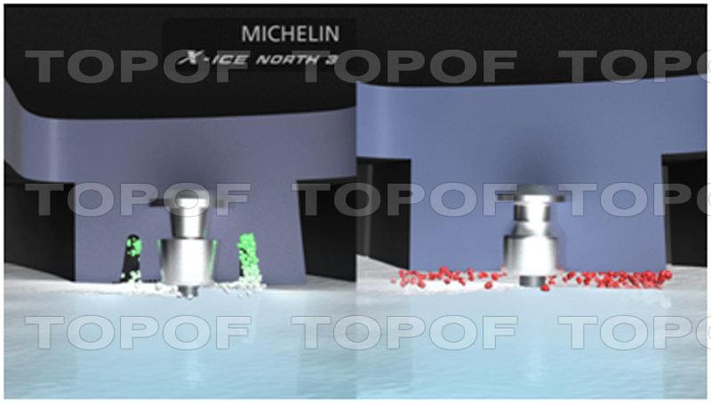 Технология отвода ледяной крошки Ice Powder Remover (IPRem – технология) Michelin X-Ice North 3