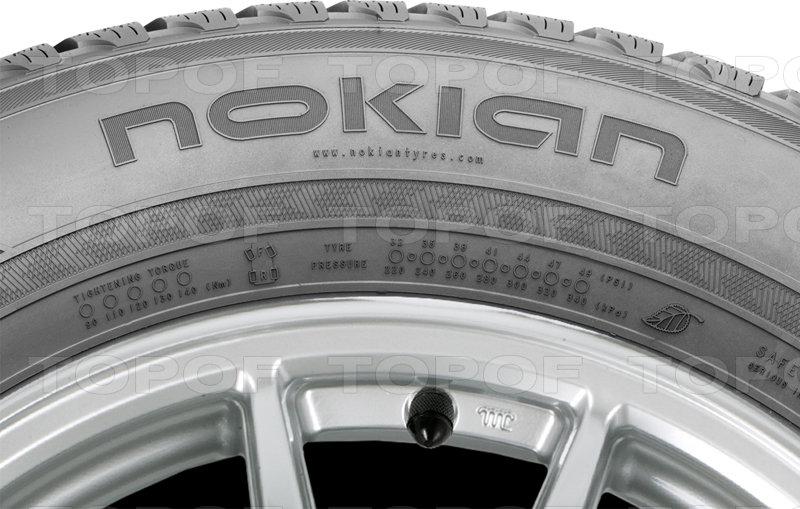 На боковине шины Nokian WR SUV 3 расположен инфо-участок