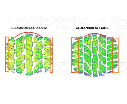 Улучшенные профиль и пятно контакта Yokohama Geolandar A/T G015